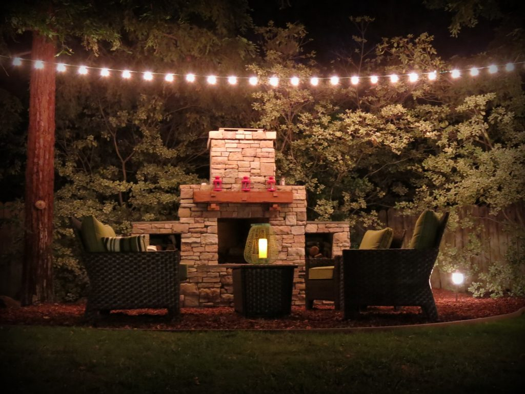DIY Outdoor Fireplace built by homeowner using a Backyard Flare construction plan.