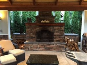 Outdoor fireplace plan