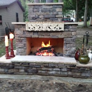 outdoor fireplace wrought iron