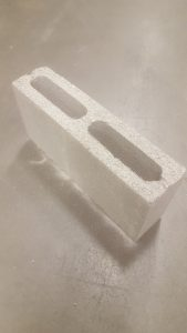 "4"" block used for your outdoor fireplace"