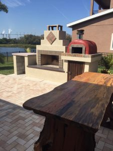 outdoor fireplace pizza oven DIY