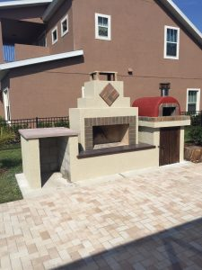 DIY outdoor fireplace pizza oven