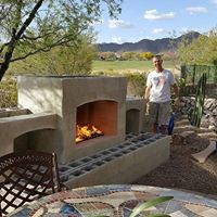 diy outdoor gas fireplace with stucco