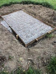 concrete diy slab foundation outdoor fireplace