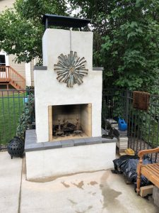 diy outdoor fireplace kits phoenix backyard masonry firebrick metal art firebrick