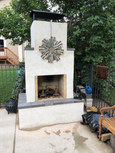 diy outdoor fireplace kits phoenix backyard masonry firebrick metal art firebrick
