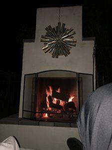 metal art fire screen DIY outdoor fireplace kits phoenix backyard masonry firebrick