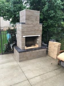 diy outdoor fireplace kits phoenix backyard masonry firebrick