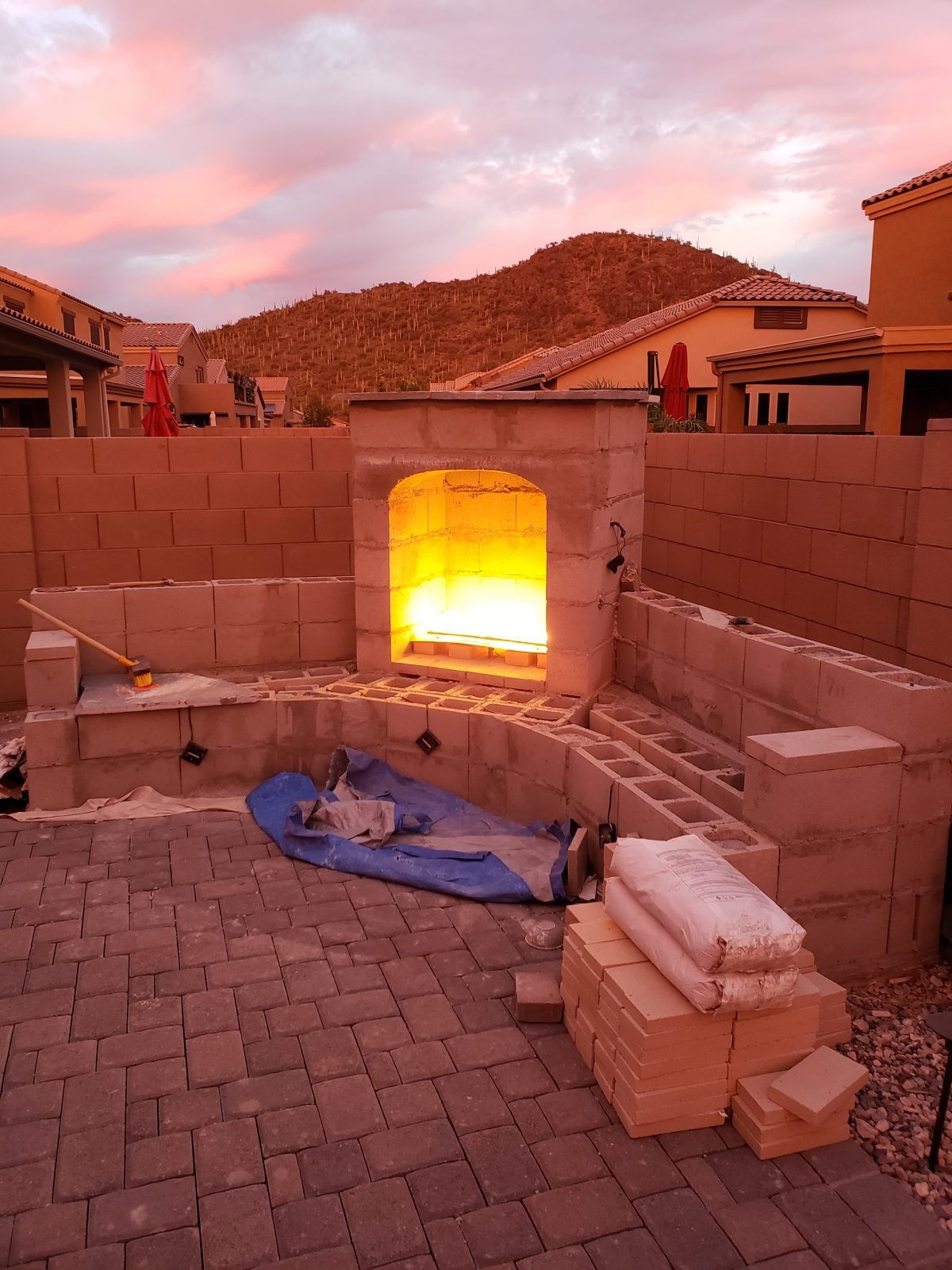 DIY Outdoor Fireplace Update – Tucson