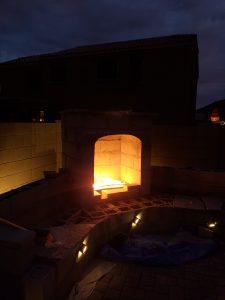 diy outdoor fireplace douglas mini propane gas lighting cinderblock fire mountain arizona