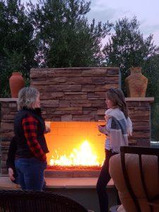 fireplace pizza oven granite flagstone gas fire patio cover pergola heater veneer diy