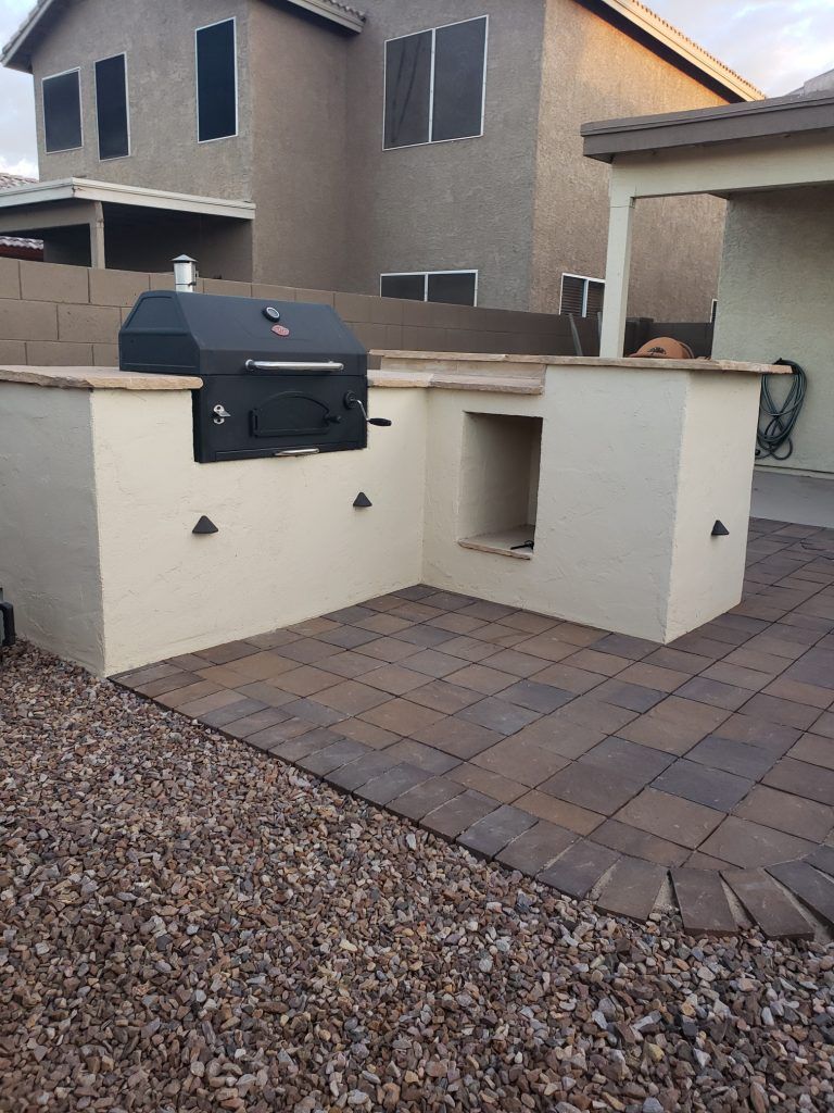 outdoor kitchen grill stucco @charbroil grill