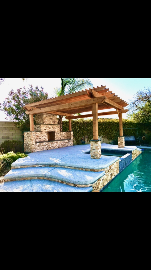 outdoor fireplace diy swimming pool hot tub