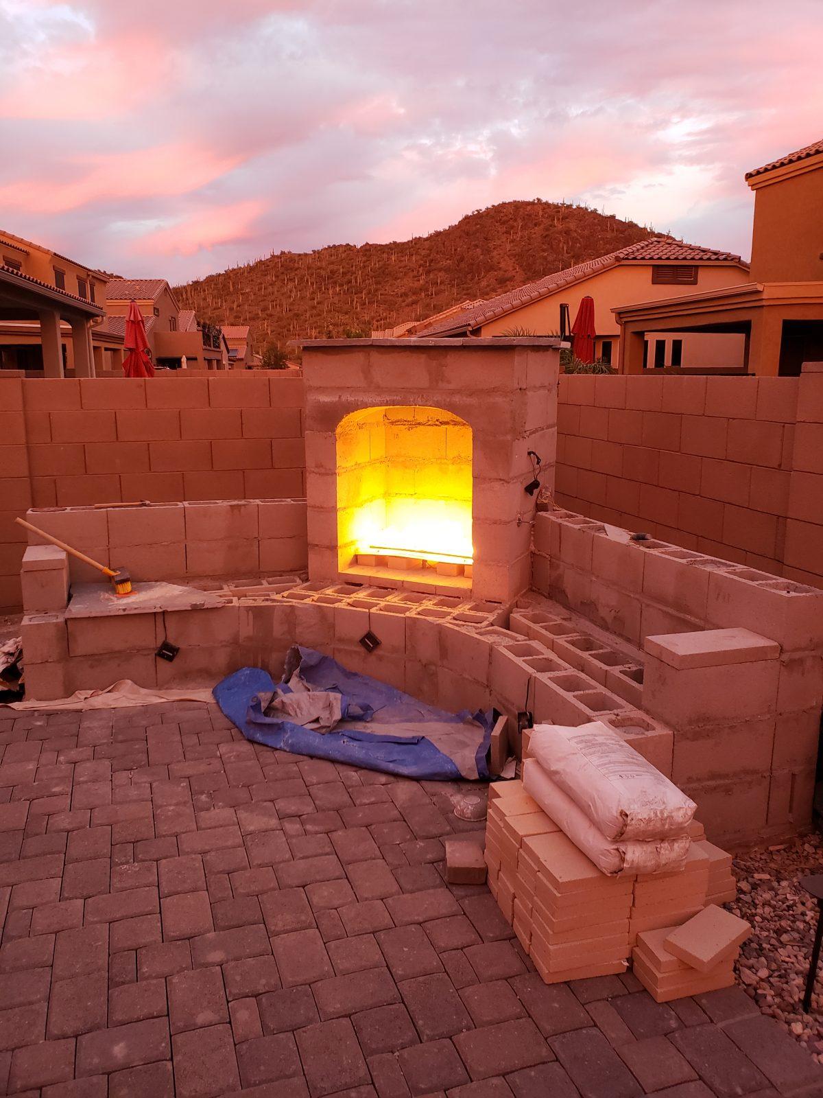 Diy Outdoor Fireplace Update Tucson